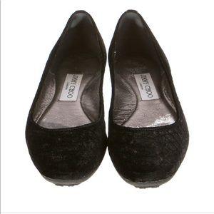 Jimmy Choo Velvet Flats 6.5/36.5 size